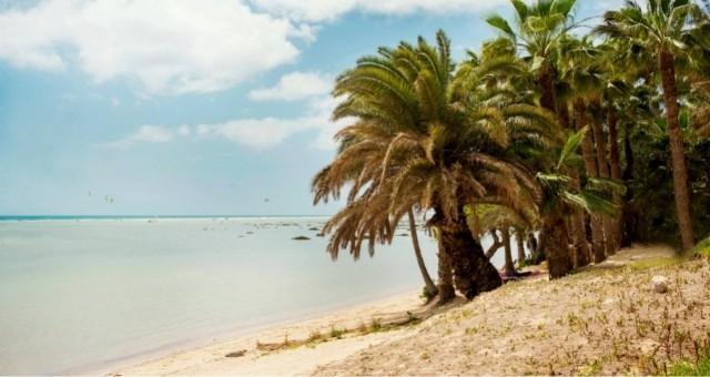Die verlassene Badebucht Sotavento auf Fuerteventura