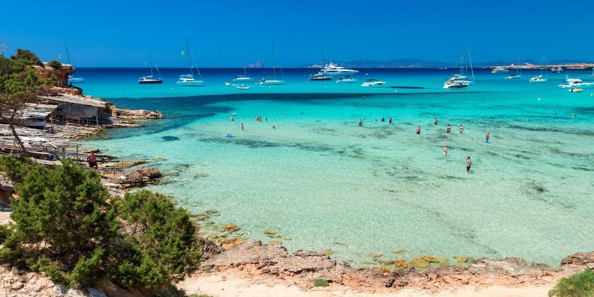 The Cala Saona beach in Formentera