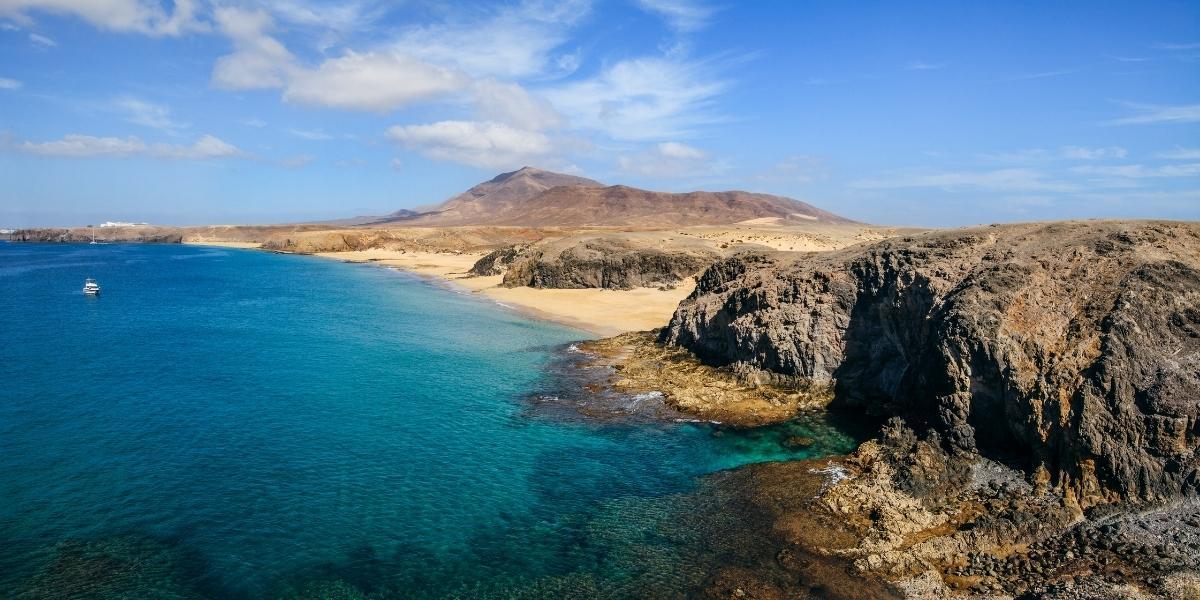 Una spiaggia di Lanzarote