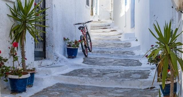 Alley in Katapola, Amorgos