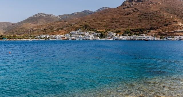 Blue sea in Amorgos