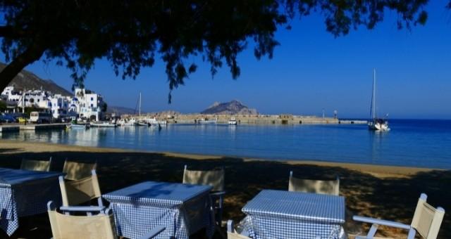 Taverna in Amorgos by the sea