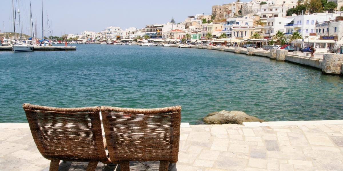 The port of Naxos