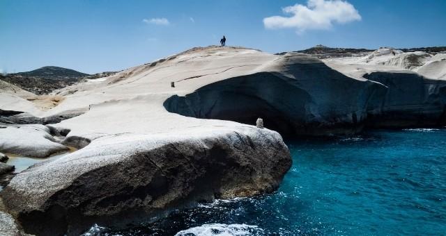 The Sarakiniko beach in Milos