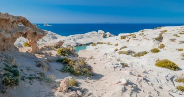 White rocks in Milos