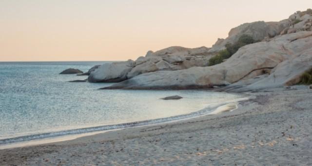 Calm beach in Naxos