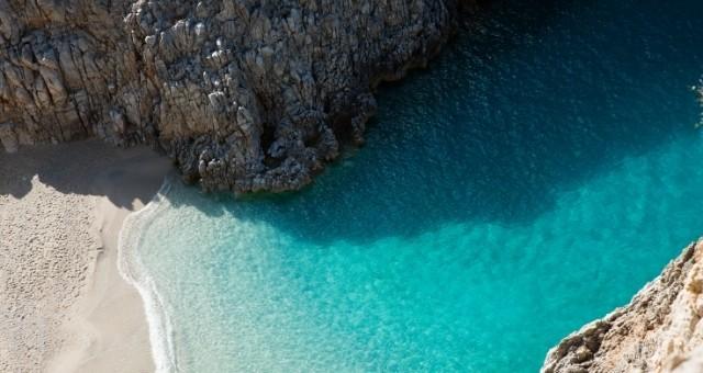 The Seitan beach in Crete