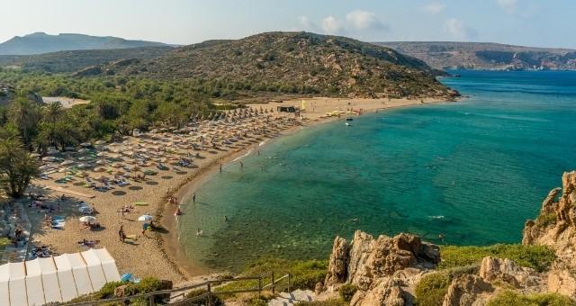 The Vai beach in Eastern Crete