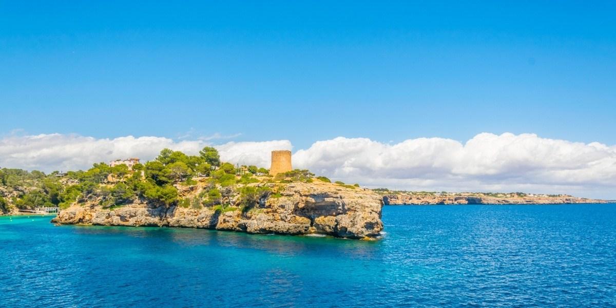 The verdant Cala Pi Bay in Majorca
