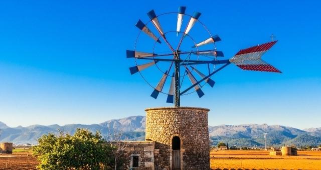 Windmill in a rural area of Mallorca