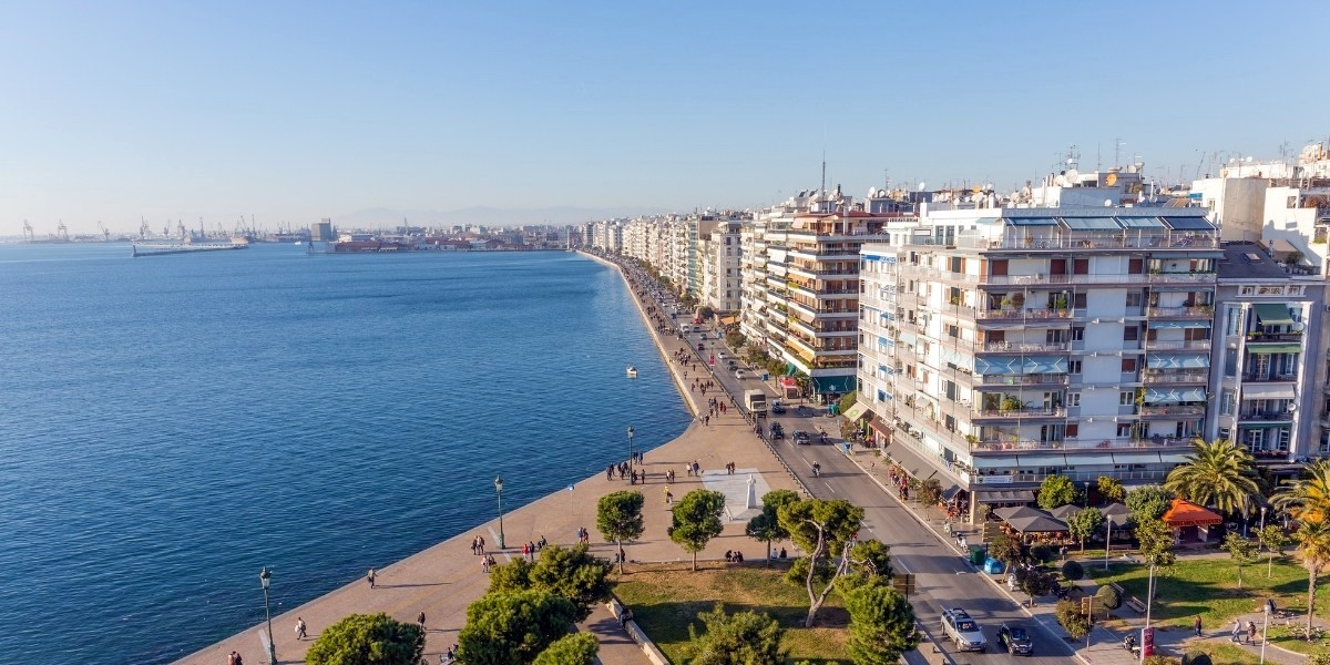 The promenade and port of Thessaloniki