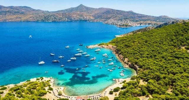 Moni islet in Aegina