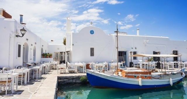 Seaside restaurant in Naoussa