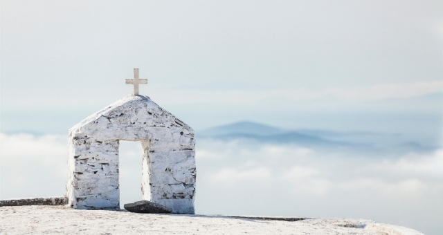 White chapel in Tinos