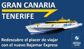 Bajamar Express, nuevo ferry, Fred Olsen, viajar en las islas canarias