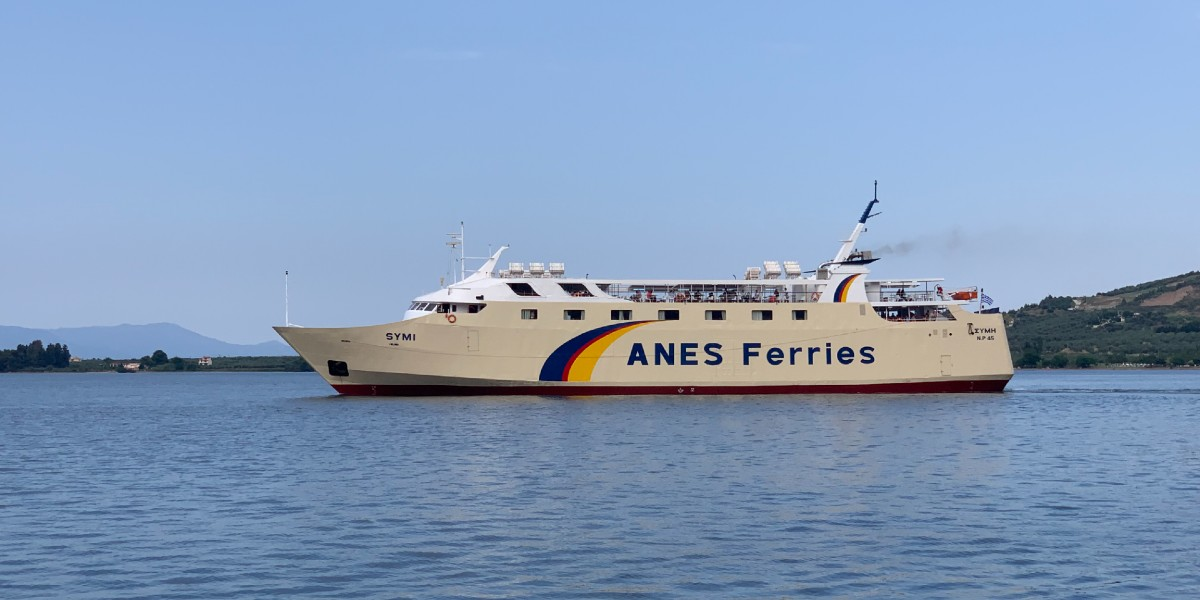 white ferry of Anes Ferries, sea