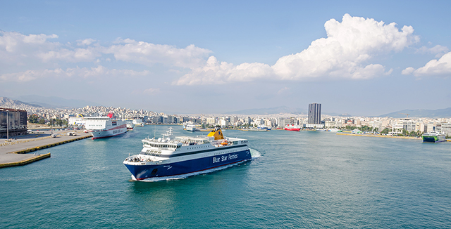 Blue Star Ferries, port in Athens