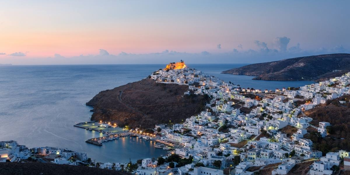 Chora of Astypalea in the evening