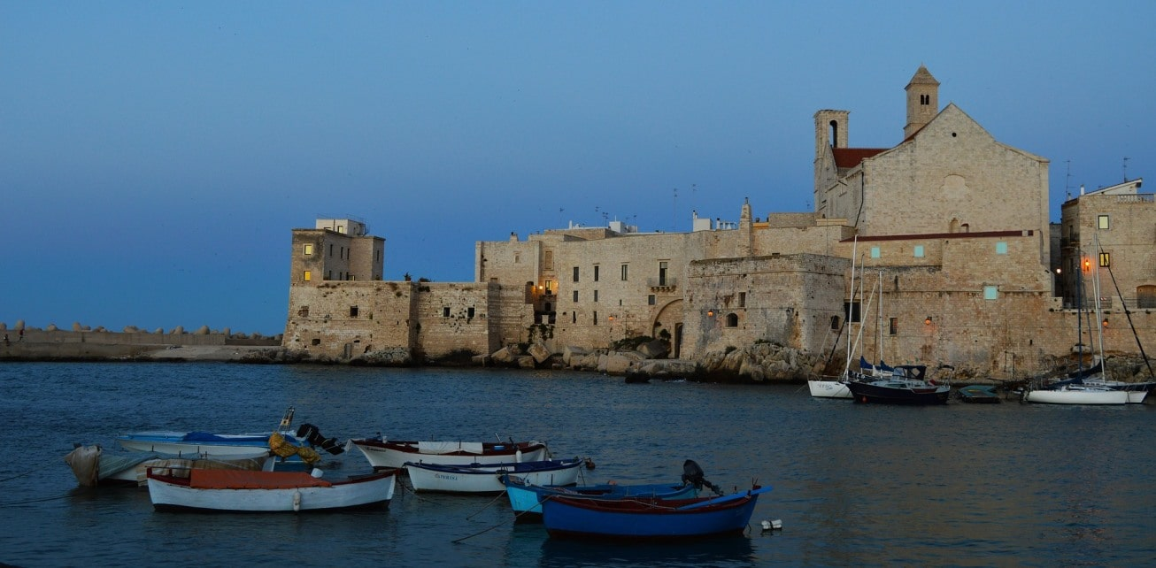 Fortress at the port of Bari, Italian coast - ferries to Greece, Albania, Croatia