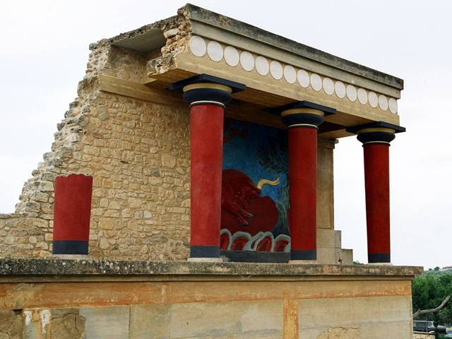 The ancient ruins of Knossos near Heraklion