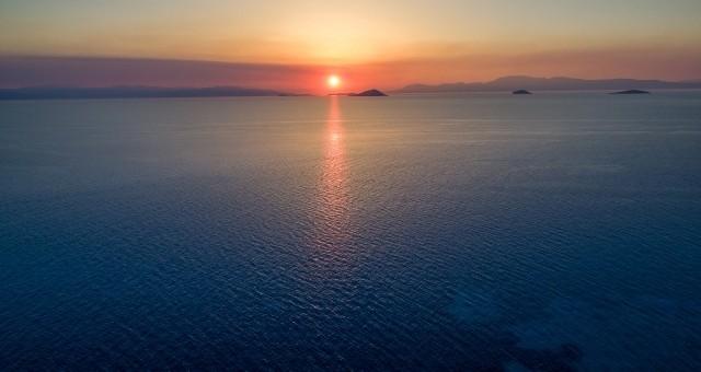Sunset in Aegina island