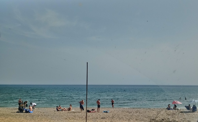 παραλία, αμμος, άνθρωποι, γαλάζιο, Αλεξανδρούπολη