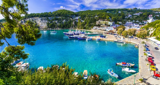 The port of Patitiri in Alonissos, fishing boats, sailing, car rental, houses, ferry routes to Sporades