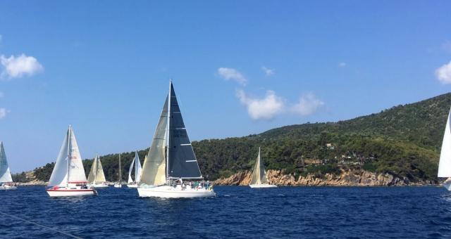 Sailing race at the sea of Alonissos