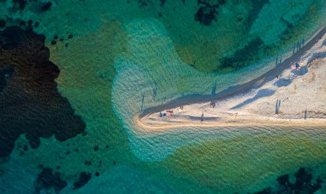 La plage d'Agios Pavlos à Amorgos