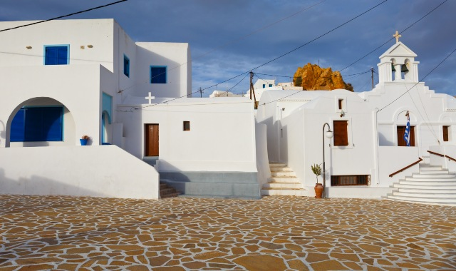White-washed houses in Anafi, Cyclades
