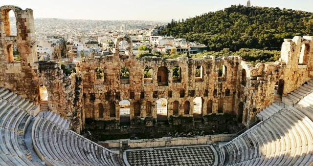 La ciudad de Atenas y el Odeón de Herodes Ático