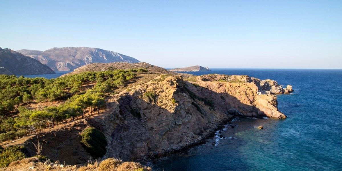 καμπαναριό, μπλε, Τέλενδος, θέα, θάλασσα, βράχος, θάμνοι
