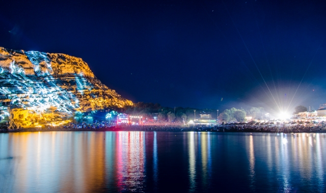 Colours, festival by the beach of Matala, night party, ferry tickets to Crete