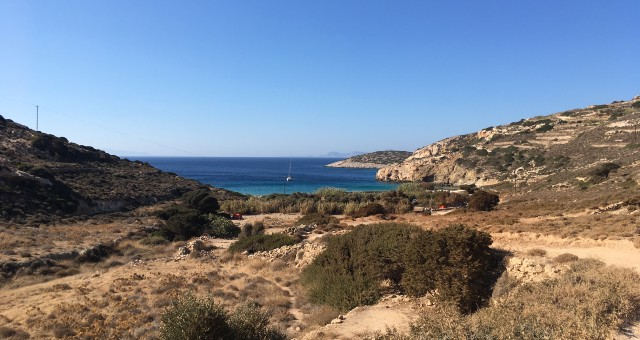 nature, sea, bushes, hiking trails in Donoussa