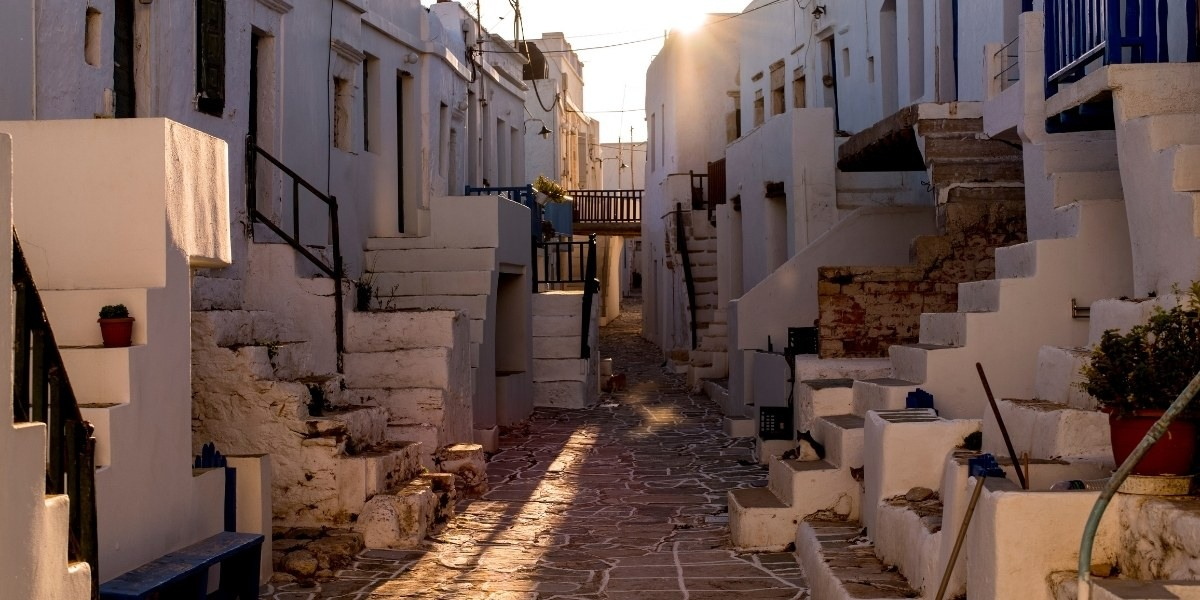 Les maisons blanches typiques de Folegandros