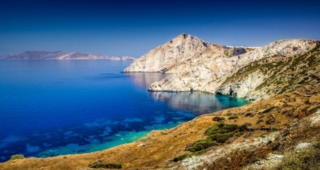 Vue de Folegandros et de la mer Egée