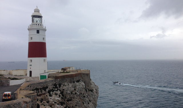 The Lighthouse of Gibraltar, south of Europe, UK, The Rock, Ferry routes Morocco