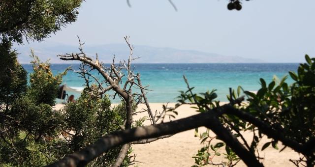 La plage de Livada à Iraklia