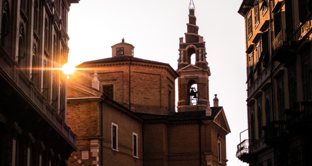 Sunlight in the streets of Ancona, church, buildings, traditional architecture, sightseeing, Italy, holidays, ferry tickets