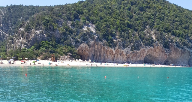 Nature, sandy beach, umbrellas, holidays, summer, Arbatax, Sardinia, ferry routes