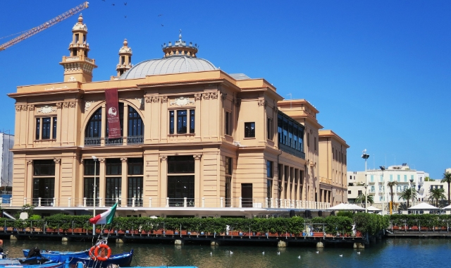 Theatre. seaside, architecture, port, Bari, Italy, holidays, ferry routes Adriatic sea, Greece