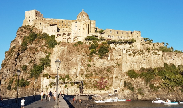 castle. church, sightseeing, people, Ischia, Naples, ferry routes