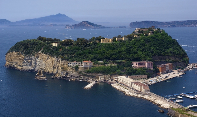Port, nature and buildings, sea, Palermo, Naples, ferry route