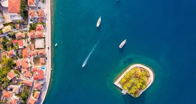 The islet of Lazareto in Vathy