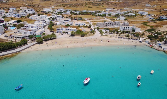 Crystal blue waters in Koufonisia