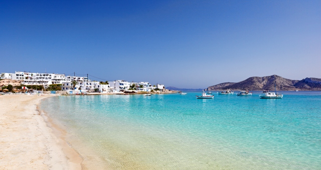 The beach at the port of Koufonisia, Greece