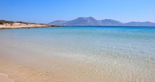 Pori beach, Koufonisia, crystal waters, sand, blue sea, island, Cyclades