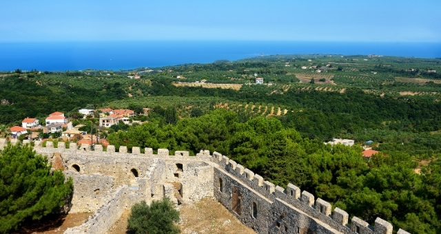 Chlemoutsi castle, Kyllini, sightseeing, town, nature, Ionian sea, port