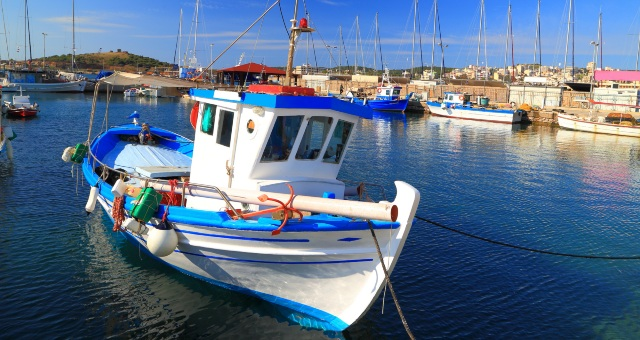 Fishing boat at the port of Lavrio