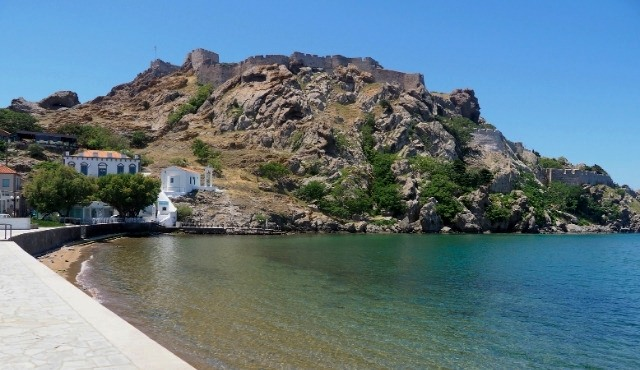 The Castle of Myrina over the port of Lemnos